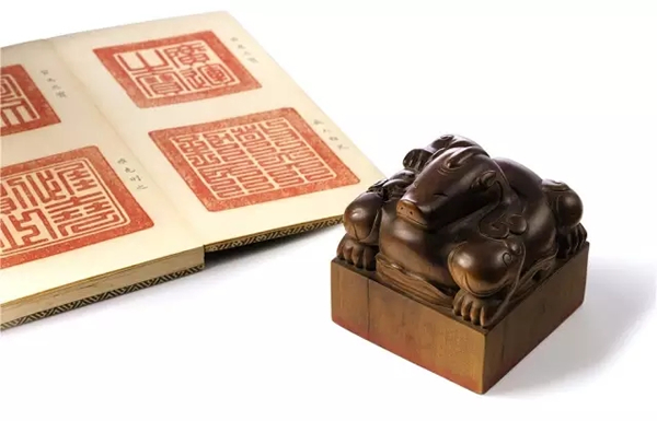 清康熙 康熙帝御宝檀香木异兽钮方玺 成交价9260万港元