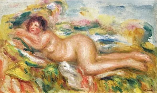 皮耶尔·奥古斯特·雷诺阿草地上的裸女(最初版本) 成交价690万
