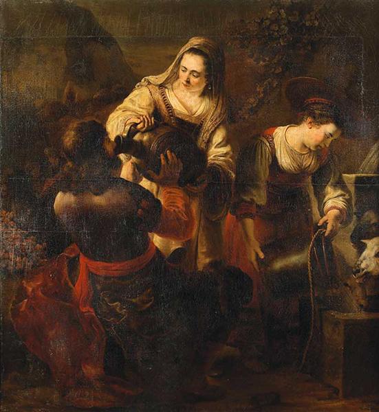 《井边的利百加和以利以谢》 费迪南德•波尔 1645-46年